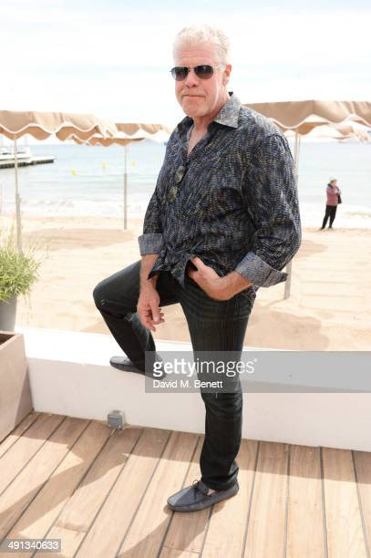 Ron Perlman attends Deadline's Cocktails on the Croisette in partnership with American Express and Film Fraternity at La Gold Plage on May 16 2014 in...