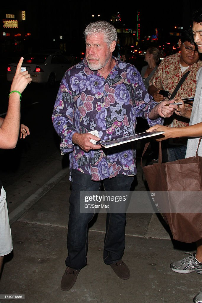 Ron Perlman is seen on July 18, 2013 in Los Angeles, California.