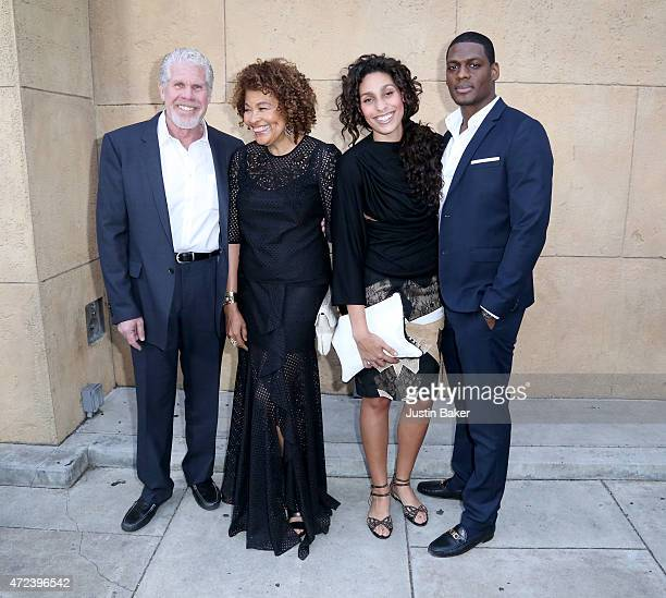 Ron Perlman Opal Perlman Blake Perlman and guest attend Skin Trade Los Angeles Premiere at the Egyptian Theatre on May 6 2015 in Hollywood California