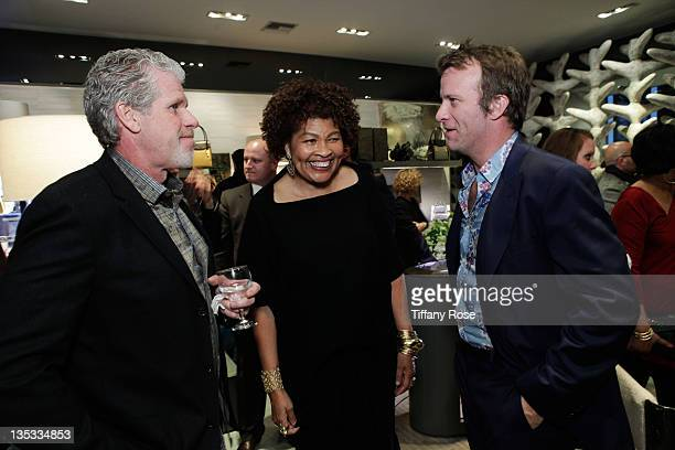 Ron Perlman Opal Stone and Thomas Jane attend the Opal Stone Luxury Handbags And Fine Jewelry Launch at Gray Gallery on December 8 2011 in Beverly...