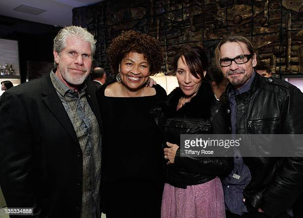 Ron Perlman Opal Stone Katey Sagal and Kurt Sutter attends the Opal Stone Luxury Handbags And Fine Jewelry Launch at Gray Gallery on December 8 2011...