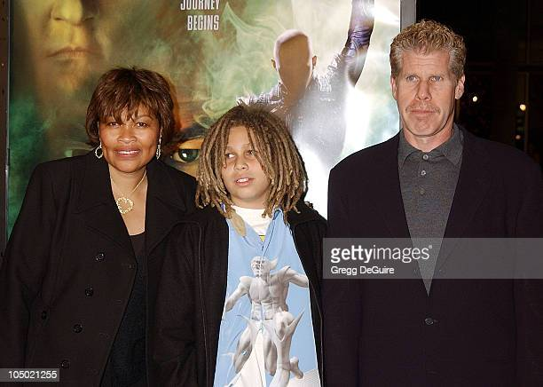 Ron Perlman wife Opal son Brandon during Star Trek Nemesis World Premiere at Grauman's Chinese Theatre in Hollywood California United States