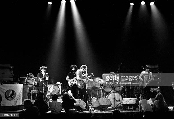 Ron Pigpen McKernan Jerry Garcia Bob Weir Bill Kreutzmann and Phil Lesh of The Grateful Dead perform on stage at the Tivoli Concert Hall in April...
