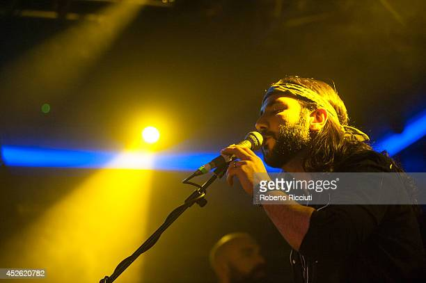 Ron Pope performs on stage at The Liquid Room on July 24 2014 in Edinburgh United Kingdom