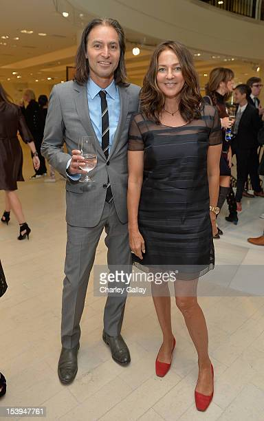 Ron Radziner and Robin Cottle attend Barneys New York and Lisa Eisner Host A Lunch To Celebrate Kelly Klein And The Launch Of Pools Reflections at...