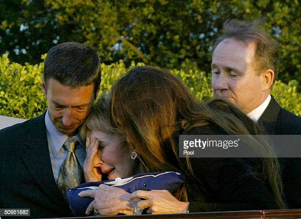 Ron Reagan Michael Reagan former first lady Nancy Reagan and Patti Davis say a final farewell as former President Ronald Reagan is laid to rest at...