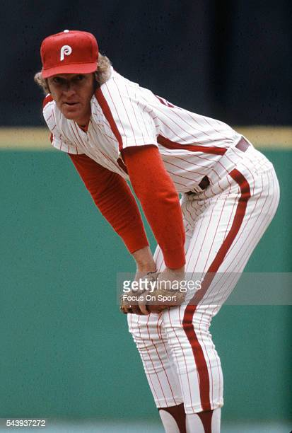 Ron Reed of the Philadelphia Phillies pitches during an Major League Baseball game circa 1979 at Veterans Stadium in Philadelphia Pennsylvania Reed...
