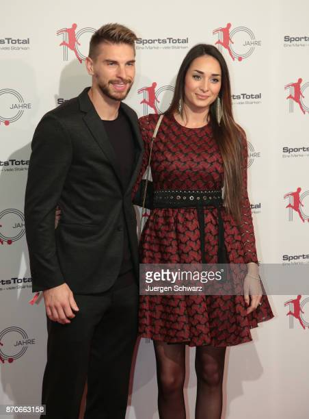 Ron Robert Zieler and his girlfriend Anna pose at the 10th anniversary celebration of the Sports Total Agency on November 5 2017 in Cologne Germany