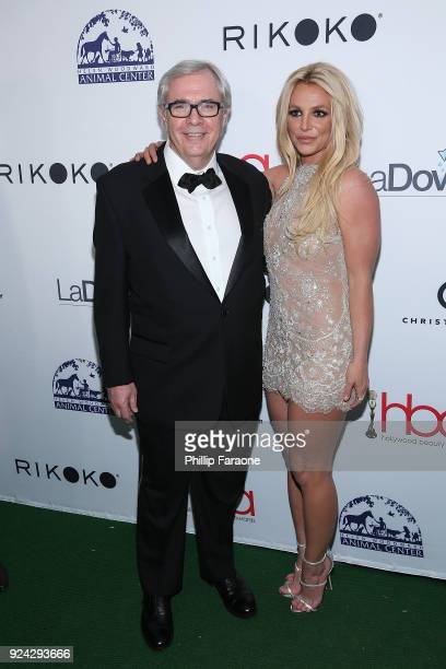 Ron Rolleston and Britney Spears attend the 4th Hollywood Beauty Awards at Avalon Hollywood on February 25 2018 in Los Angeles California