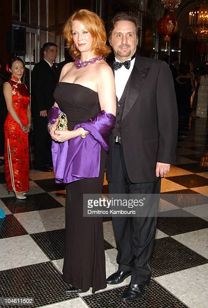 Ron Silver and wife Catherine de Castelbajac during The 18th Annual Rita Hayworth Gala at Waldorf Astoria in New York City, New York, United States.