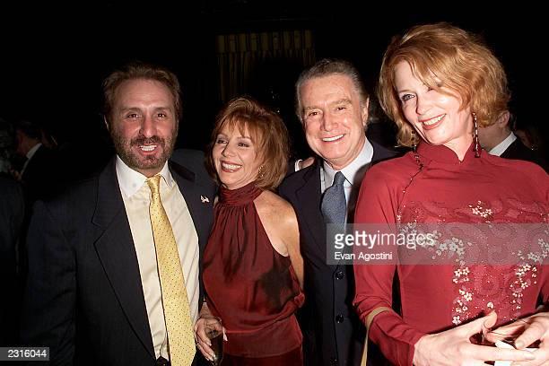 Ron Silver Regis Joy Philbin with Catherine de Castel Bajac at an Ali screening dinner at Le Cirque in New York City Photo Evan Agostini/ImageDirect