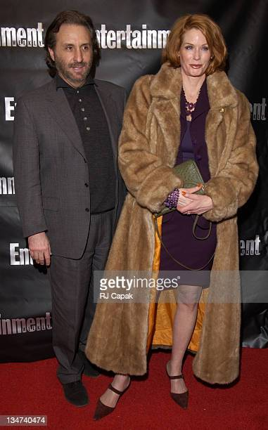 Ron Silver & wife Catherine De Castelbajac during Entertainment Weekly 8th Annual Academy Awards Viewing Party at Elaine's in New York City, New...