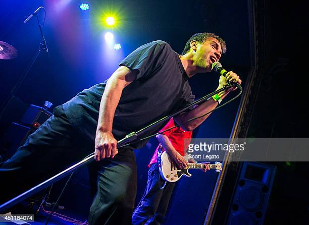 Ron 'Skip' Greer of the Dead Kennedys performs at St Andrews Hall on June 24 2014 in Detroit Michigan