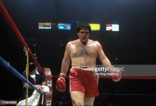Ron Stander walks in the ring during the fight against Ken Norton at Capital Centre Landover Maryland Ken Norton won by a TKO 5