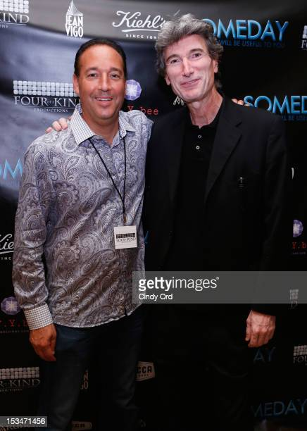 Ron Stein and Renzo Badolisani attend the 'Someday This Pain Will Be Useful To You' New York Screening after party at Kiehl's Since 1851 Flagship...