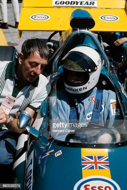 Ron Tauranac Tim Schenken BrabhamFord BT33 Grand Prix of Germany Nurburgring 01 August 1971 Ron Tauranac chief designer of Brabham with Tim Schenckten