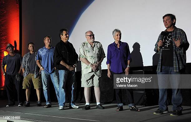 Ron Thomas Tony O'Dell William Zabka Martin Kove Bud Smith Randee Heller and Robert Mark Kamen attend The Academy Of Motion Picture Arts And...