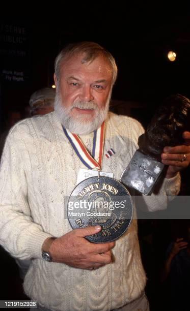 Ron Thomas winner of an Ernest Hemingway lookalike competition at Sloppy Joe's bar, Key West, Florida, United States, 2002.