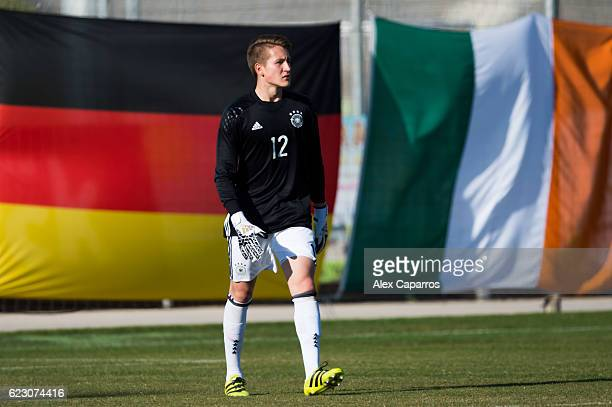 Ron Thorben Hoffmann of Germany looks on during the U18 international friendly match between Ireland and Germany on November 13 2016 in Salou Spain