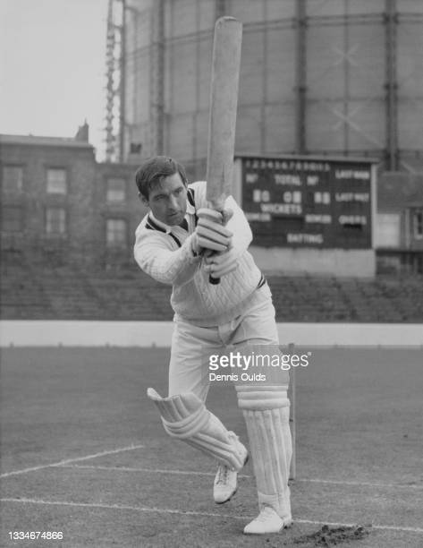 Ron Tindall of England and an all-rounder, a right-handed middle order batsman and a right-arm off-break bowler for the Surrey County Cricket Club...
