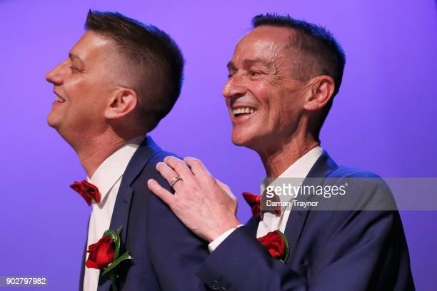 Ron Van Houwelingen and Antony McManus get married on January 9 2018 in the theatre where they met 30 years ago in Melbourne Australia Couples across...