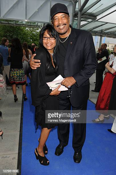 Ron Williams and his wife Gloria attend the Bavarian Sport Award 2010 at the International Congress Center Munich on July 17 2010 in Munich Germany