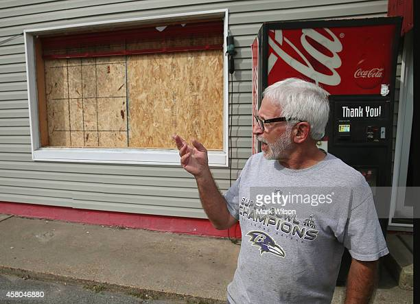 Ron Wolff owner of Wolff's Sandwhich Shop talks about the store front window that blew out after a Orbital Sciences Corporation Antares rocket...