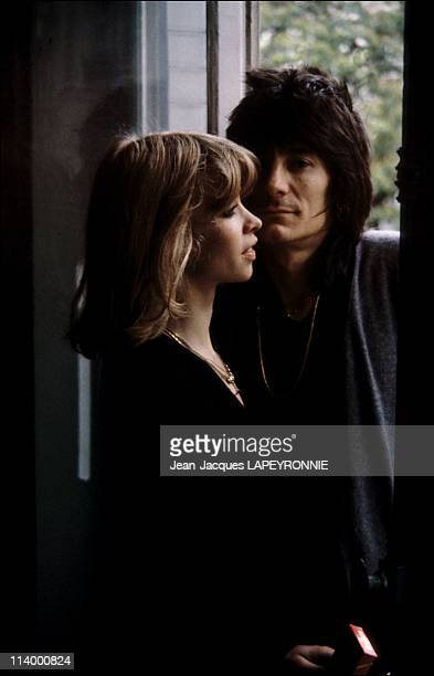 Ron Wood and his family in Paris France in 1979With his wife