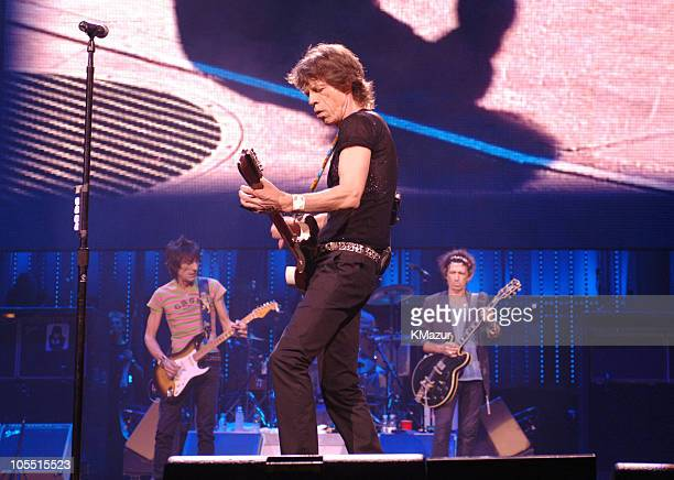 Ron Wood Mick Jagger and Keith Richards of the Rolling Stones