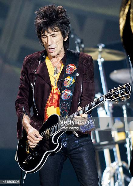 Ron Wood of the british rock band 'The Rolling Stones' performs at EspritArena on June 19 2014 in Duesseldorf Germany
