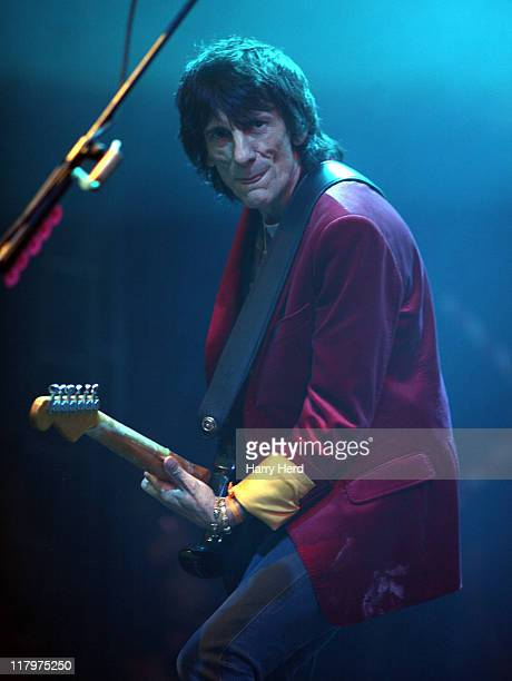 Ron Wood of The Faces performs on day two of the Cornbury Music Festival on July 2 2011 in Chipping Norton England