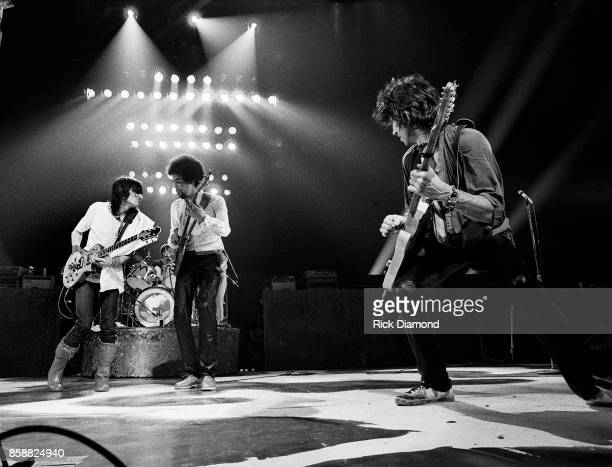 Ron Wood, Stanley Clarke and Keith Richards perform with The New Barbarians at The OMNI Coliseum in Atlanta Georgia. May 10, 1979