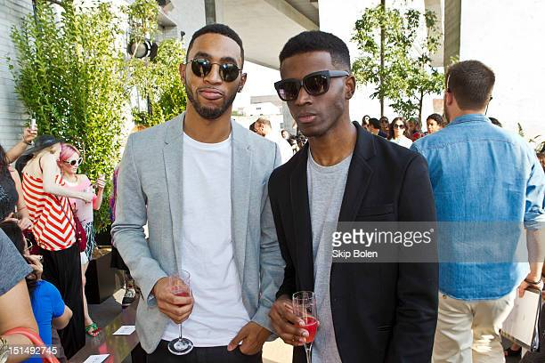 Ron Wright and Kenneth Kyrell attends the Houghton show during Spring 2013 MercedesBenz Fashion Week at The Standard Hotel High Line Room on...