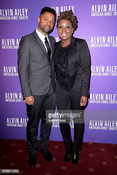 Ron Young and Ledisi attend Alvin Ailey American Dance Theater Opening Night Gala Benefit 'An Evening of Ailey and Jazz' at New York City Center on...