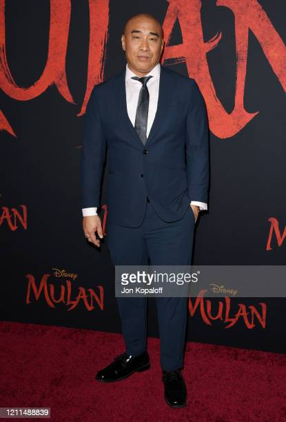 Ron Yuan attends the premiere of Disney's Mulan on March 09 2020 in Hollywood California