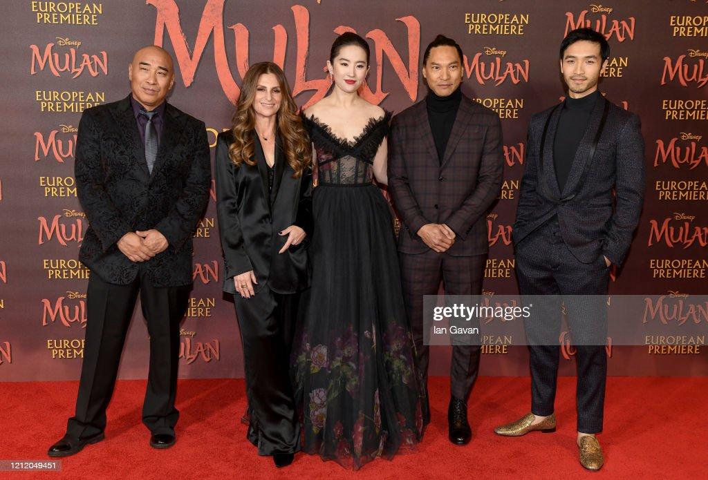 "European Premiere Of Disney's ""MULAN"" : News Photo"