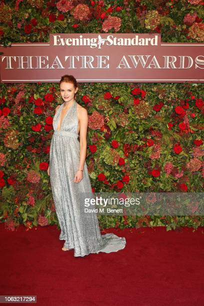 Rona Morison arrives at The 64th Evening Standard Theatre Awards at the Theatre Royal Drury Lane on November 18 2018 in London England
