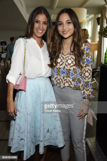 Rona Oezkan and Nadine Menz attend the Klambt Fashion Cocktail in Berlin at Soho House on July 5 2017 in Berlin Germany