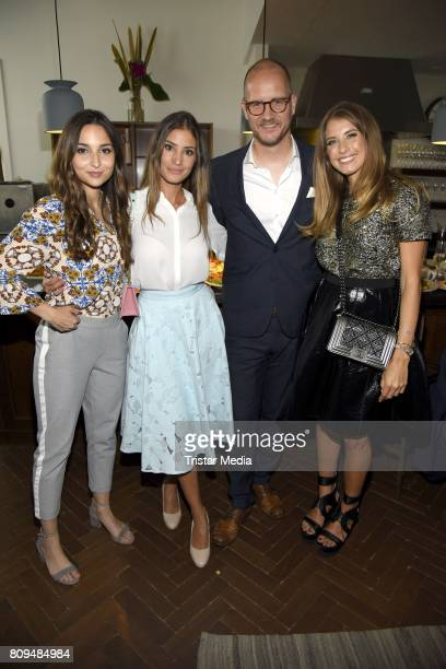 Rona Oezkan Nadine Menz Tim Affeld and Cathy Hummels attend the Klambt Fashion Cocktail in Berlin at Soho House on July 5 2017 in Berlin Germany