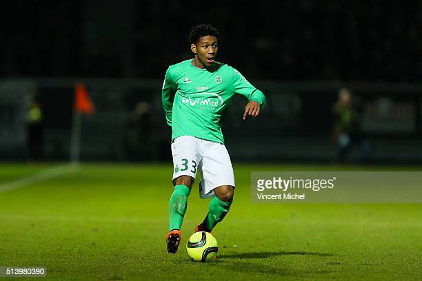 Ronael Pierre Gabriel of SaintEtienne during the French Ligue 1 match between Angers SCO v AS SaintEtienne at Stade JeanBouin on March 5 2016 in...