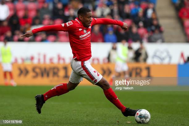 Ronaël Pierre-Gabriel of Mainz during the Bundesliga match between 1. FSV Mainz 05 and SC Paderborn 07 at Opel Arena on February 29, 2020 in Mainz,...