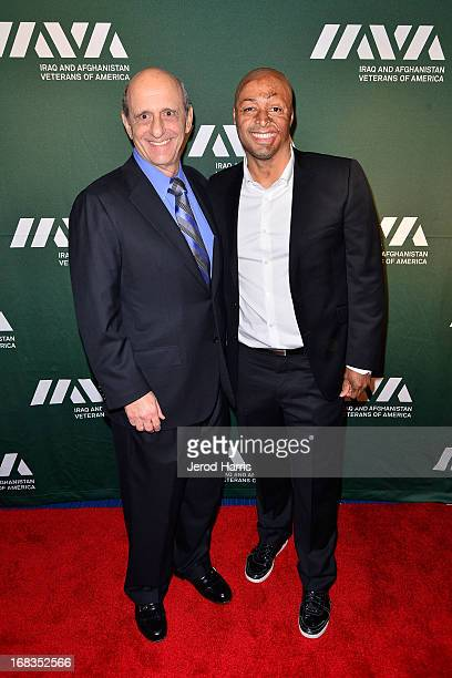 Ronald A Katz and JR Martinez attend IAVA's fifth annual Heroes celebration at Mr C Beverly Hills on May 8 2013 in Beverly Hills California