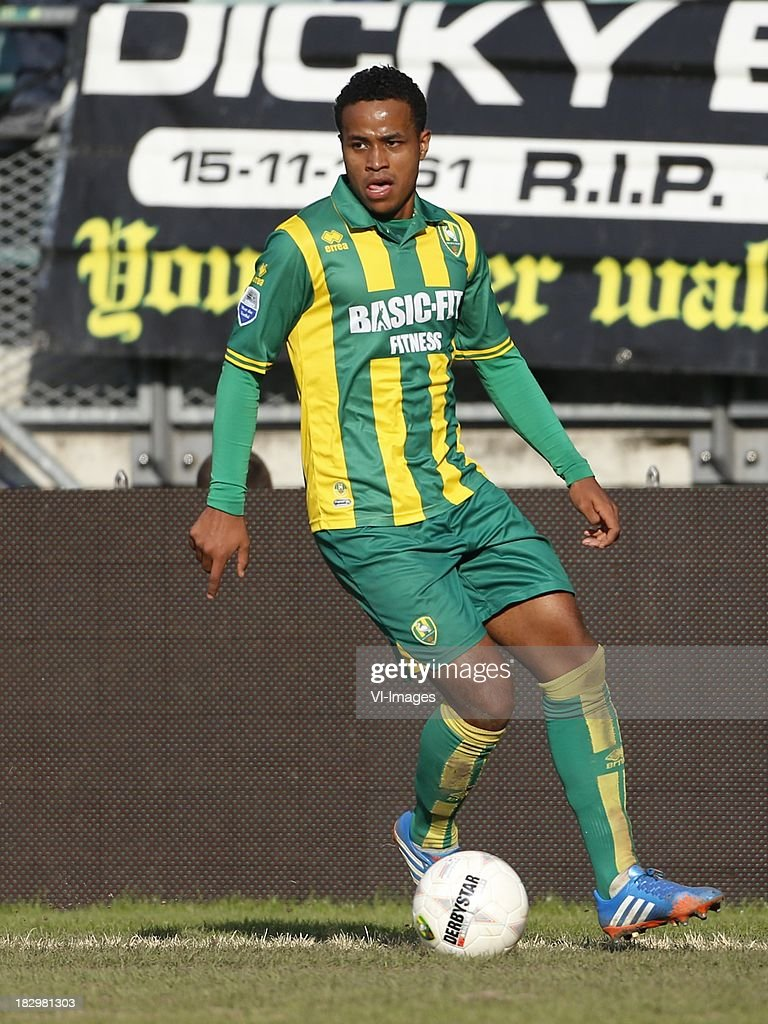 Ronald Alberg of ADO Den Haag during the Dutch Eredivisie match between ADO Den Haag and Vitesse on Oktober 2, 2013 at the Kyocera stadium in The Hague, The Netherlands.