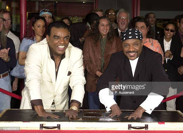 Ronald and Ernie Isley during The Isley Brothers Inducted Into Hollywood's Rockwalk at Hollywood's Rockwalk in Hollywood California United States