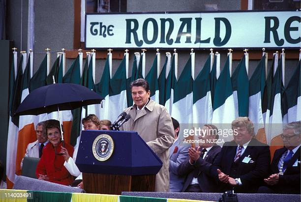 Ronald and Nancy Reagan In Ballyporeen, Ireland On June 03, 1984-Nancy and Ronald Reagan.
