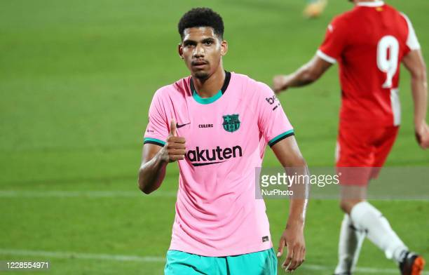 Ronald Araujo during the friendly match between FC Barcelona and Girona FC played at the Johan Cruyff Stadium on 16th September 2020 in Barcelona...
