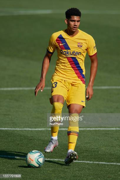 Ronald Araujo of Barcelona during the Liga match between Deportivo Alaves and FC Barcelona at Estadio de Mendizorroza on July 19 2020 in...