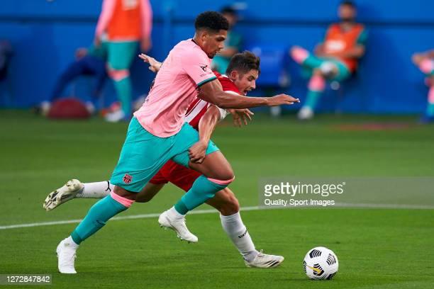 Ronald Araujo of FC Barcelona in action during the preseason friendly match between FC Barcelona and Girona at Estadi Johan Cruyff on September 16...