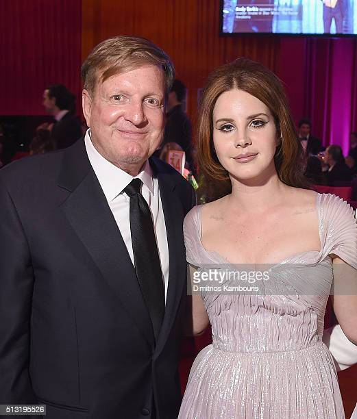 Ronald Burkle and Lana Del Rey attend the 24th Annual Elton John AIDS Foundation's Oscar Viewing Party at The City of West Hollywood Park on February...