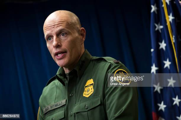 Ronald D Vitiello Acting Deputy Commissioner of US Customs and Border Protection speaks during a Department of Homeland Security press conference to...